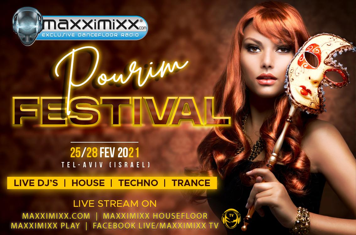 Slider Maxximixx Pourim Festival 2021 - 1334 X 750 Pixels